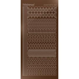 Hobbydots sticker - Mirror - Brown