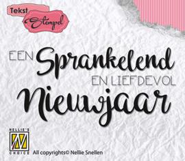 Nellie Snellen - DTCS008 Clear stamps Dutch texts Sprankelend Nieuwjaar