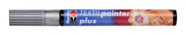 Marabu Textil painter - plus punt 3 mm - Zilver