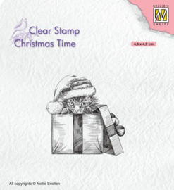 Nellies Choice Clearstempel - Christmas time - Kerst verrassing CT033 48x49mm