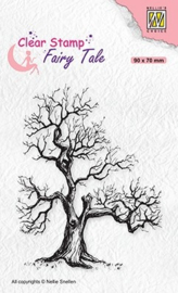 "Nellie Snellen - FTCS018 Clear stamps Fairy Tale-16 ""Elves tree"" 90x70mm"