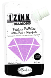 IZINK Diamond glitterverf/pasta - 80 ml, pastelroze