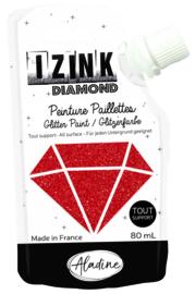 IZINK Diamond glitterverf/pasta - 80 ml, rood
