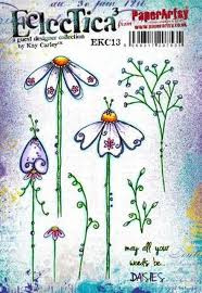 PaperArtsy Eclectica - Mounted Rubber Stamp Set -  EKC13