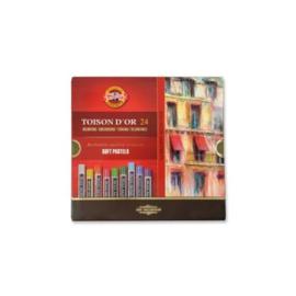 Koh-i-noor Toison Dr soft pastelkrijt, doos 24 kleuren