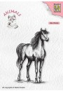 """Nellie Snellen - ANI019 Silhouette Clear Stamps animals: """"horse"""" (49x75mm)"""