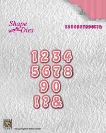 "Nellies snellen SD121 Shape Dies ""Numbers"""