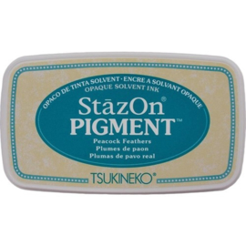 "Stazon pigment inkpad SZ-PIG-062""Peacock feathers"""