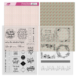 Mica Sheets - Yvonne Creations - Floral Pink