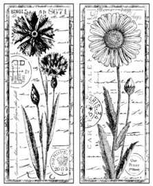 Crafty Individuals CI-185 Tall Wild Flowers Unmounted Rubber Stamps