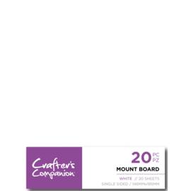 CC - Mount Board (14,6x19,7 cm) - Wit a 20 stuks