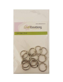 CraftEmotions Klik ringen / boekbindersringen 19mm 12 st. 430603/3419