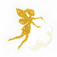 miniart crafts Golden Fairy, Satijn 40x40 cm.