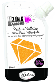 IZINK Diamond glitterverf/pasta 24 karaat- 80 ml, oranje