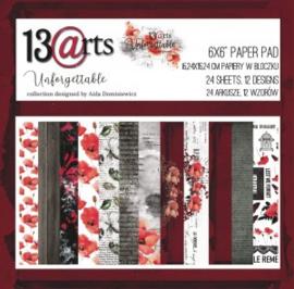 "13Arts - Paper Collection Set 6""*6"" - Unforgettable , 200 gsm"