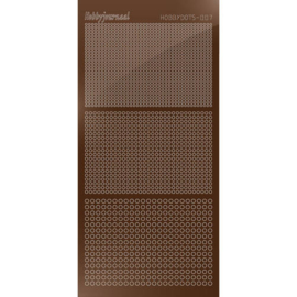 Hobbydots sticker - Mirror Brown