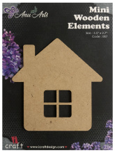 Icraft Mini wooden elements 007 (huis)