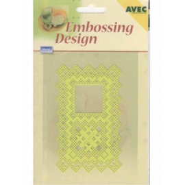 Ecstasy Crafts Embossing Design Rectangle With Square