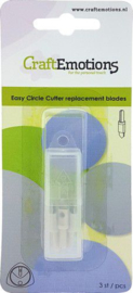 CraftEmotions Easy circle cutter - reserve mesjes 3 st
