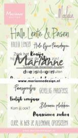 Marianne design Clear Stamps Marleen's Hallo Lente & Pasen (NL) CS1043