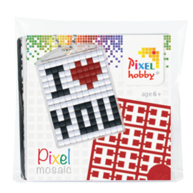 Medaillon - sleutelhanger startset - i love you