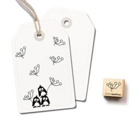 Cats on Appletrees - 2411 - Ministempel - Kleine bloem 7