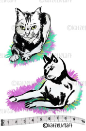 Katzelkraft - Japanese Cats - Rubber Stamps - KTZ249