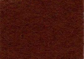 Viltlapjes viscose donkerbruin  20x30cm - 1mm