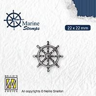 """VCS002 CLEAR STAMPS VARIOUS DESIGNS """"MARITIME: RUDDER"""""""