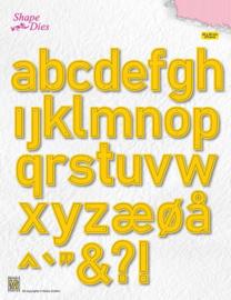 Nellie snellen SD176 Shape Dies Alphabet Large