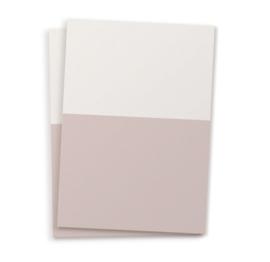 Cats on Appletrees 10 blanco kaarten A6 - zand & lichtroze