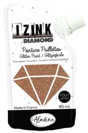 IZINK Diamond glitterverf/pasta - 80 ml, kopergoud - 80824