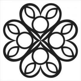 TCW 4x4 TCW2032 Celtic Heart 4x4 Stencil