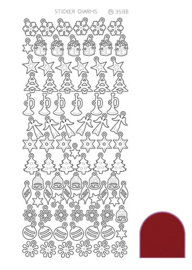 Sticker Charm Christmas - Mirror Red
