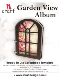 icraft -  Garden View Album - Ready to Use Scrapbook Template.