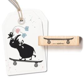 Cats on Appletrees -27398  - Stempel - Skateboard