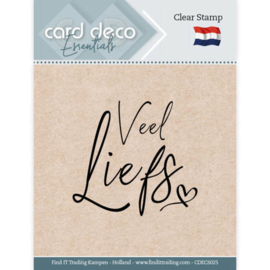 Card Deco Essentials - Clear Stamps - Veel Liefs