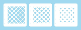 """Nellie choice LCSEO001 Layered combi stencil set (set of 3) """"Eastern Oval"""""""