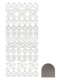 Sticker Charm - Mirror Silver