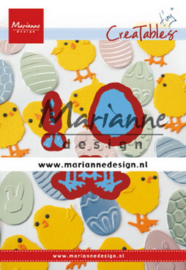 Marianne design Creatables stencil Tiny's Easter chick lr0644