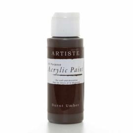 Docrafts - Acrylic Paint (2oz) - Burnt Umber