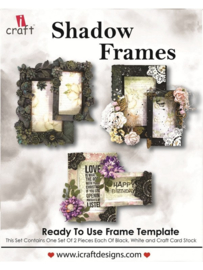 icraft - Shadow Frames - Ready to Use Scrapbook Template.