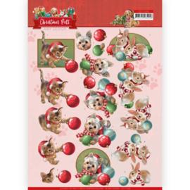 Amy Design - 3D Knipvel - Christmas Pets - Christmas balls CD11528
