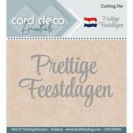 Card Deco Essentials CDECD0041 - Cutting Dies - Prettige Feestdagen