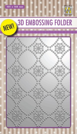 "EF3D002 3D-embossing folder ""Background flowers-2"
