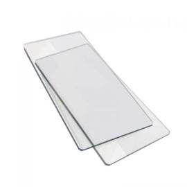 Sizzix - Transparante plaat 8,26cm x 15,24cm x 0,32cm