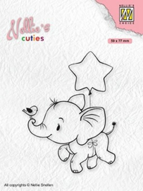 """Nellie's christmas cuties """"Elephant with star"""" NCCS011"""