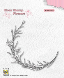 Nellie's Choice - FLO029 - Clear Stamps flowers - Blooming twig