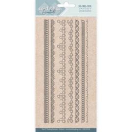 Card Deco Essentials - CDECD0108 - Slimline Dies - Slimline Fantasy Borders