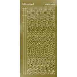 Hobbydots sticker - Mirror Gold